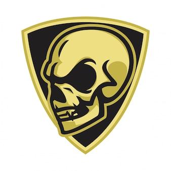 Vettore di logo del cranio