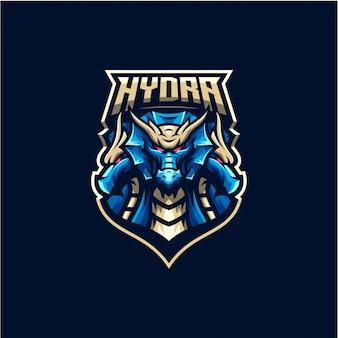 Vettore di logo del drago di hydra