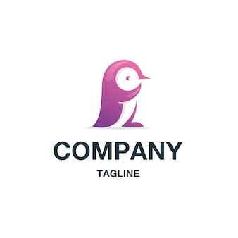 Vettore di logo del pinguino