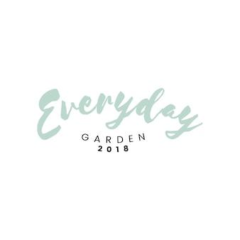 Vettore di logo del ristorante del giardino di ogni giorno