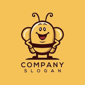 Vettore di logo dell'ape