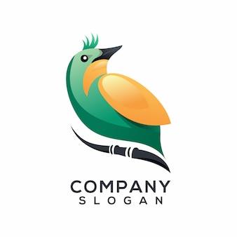 Vettore di logo dell'uccello