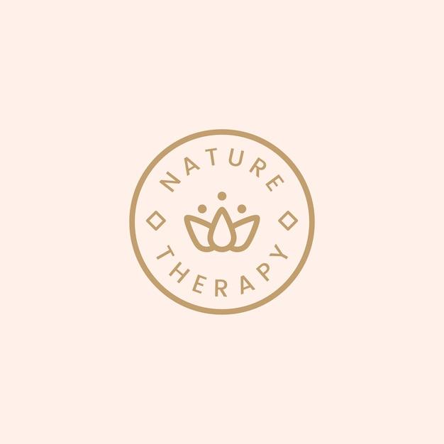 Vettore di logo della stazione termale di natura terapia