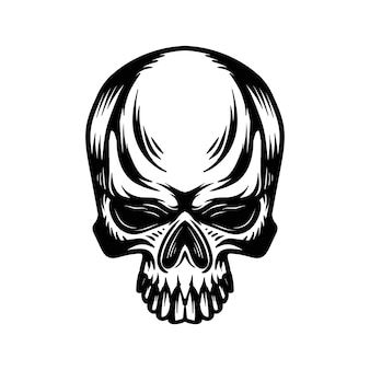 Vettore di logo della testa del cranio