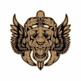 Vettore di logo della tigre