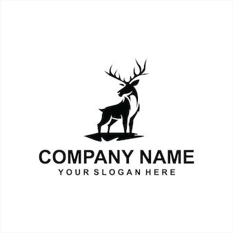Vettore di logo di cervo nero