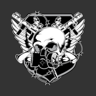 Vettore di logo di esercito scuro