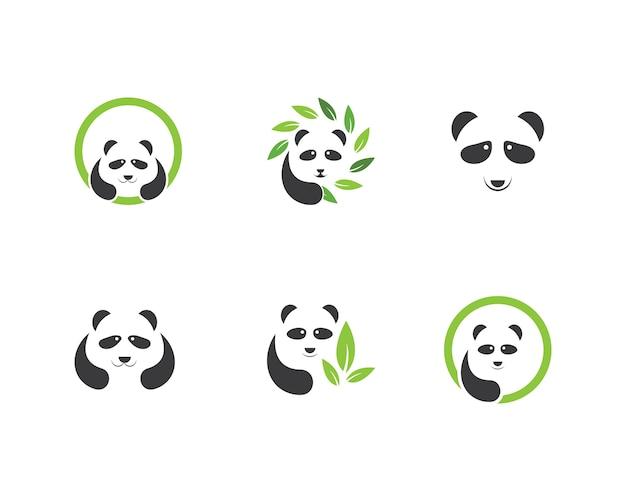 Vettore di logo di ilustration del panda