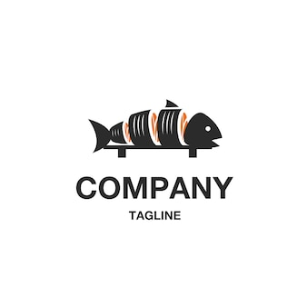 Vettore di logo di pesce sushi