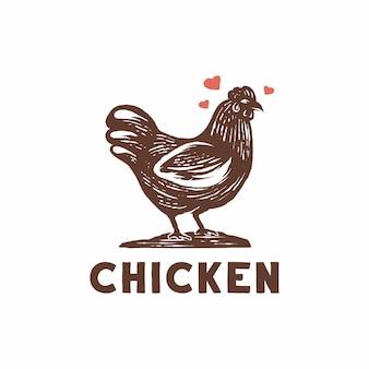 Vettore di logo di pollo