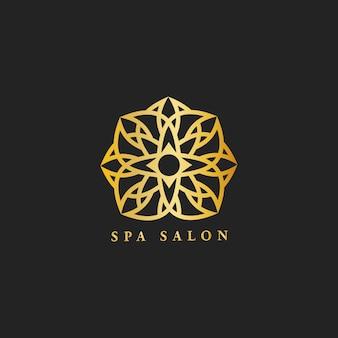 Vettore di logo di progettazione del salone della stazione termale