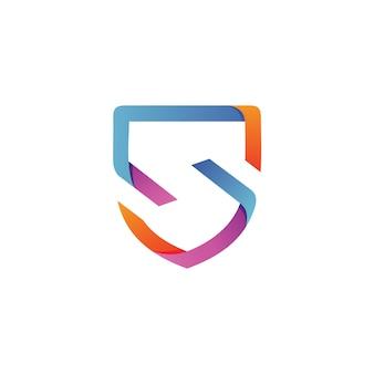 Vettore di logo di scudo della lettera s