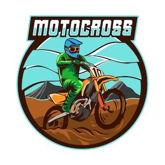 Vettore di logo di torneo di motocross