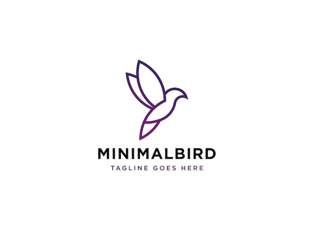 Vettore di logo di uccello