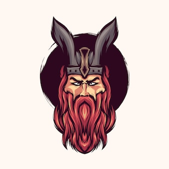 Vettore di logo di viking