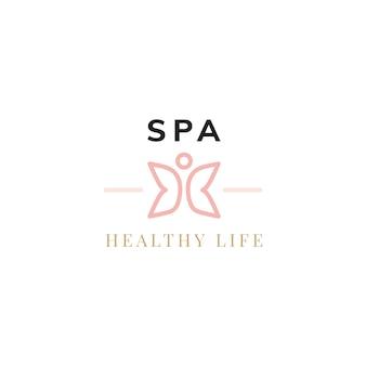 Vettore di logo di vita sana di spa