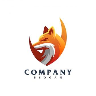 Vettore di logo di volpe