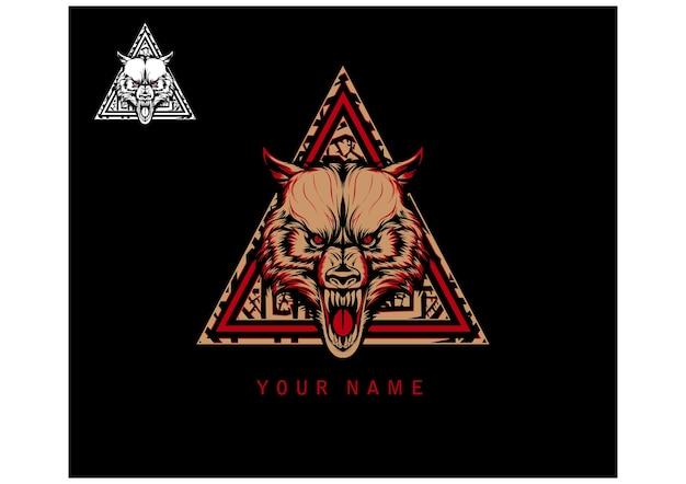 Vettore di logo di wolf clothing