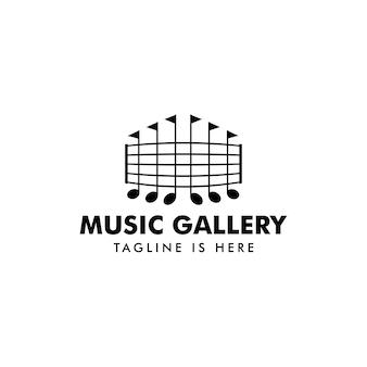 Vettore di logo evento musicale