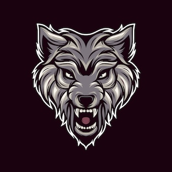 Vettore di logo lupi