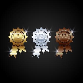 Vettore di medaglie premio