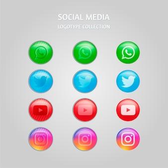 Vettore di media sociali