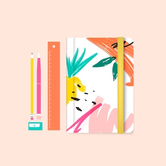 Vettore di memphis design stationery summer