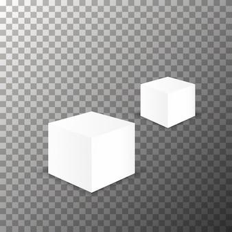 Vettore di mockup del cubo in bianco.