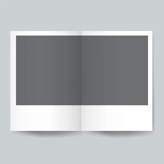 Vettore di mockup del modello di progettazione dell'opuscolo