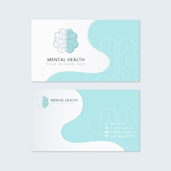 Vettore di mockup della carta di nome dello psichiatra di salute mentale