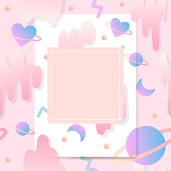 Vettore di mockup di carta pastello girly