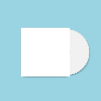 Vettore di mockup di progettazione copertina cd