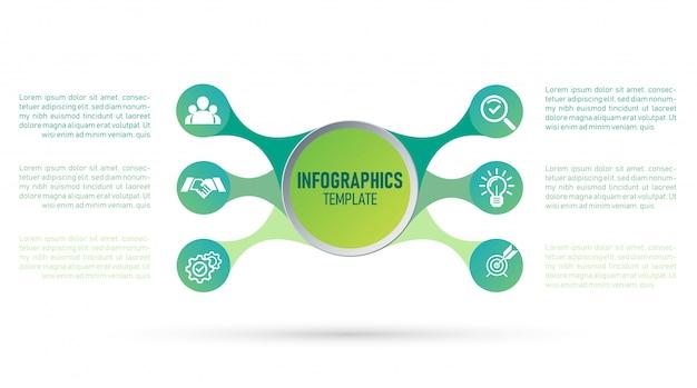 Vettore di modello infografica per il tuo business e marketing.