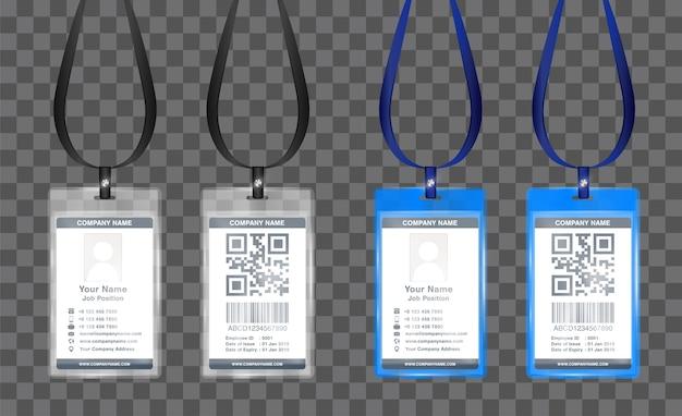 Vettore di modello semplice carta d'identità di impiegato di paesaggio