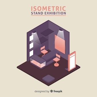 Vettore di mostra stand isometrica