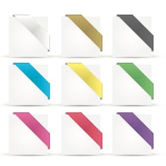 Vettore di nastri lucido colorato