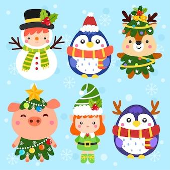 Vettore di Natale simpatico cartone animato.