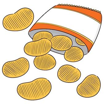 Vettore di patatine