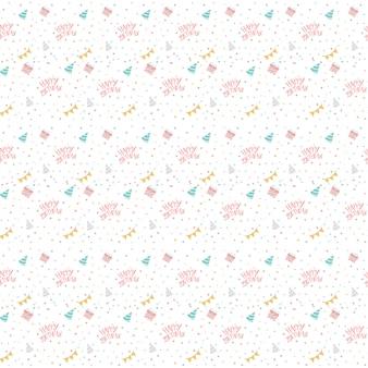 Vettore di polka dot compleanno colorato