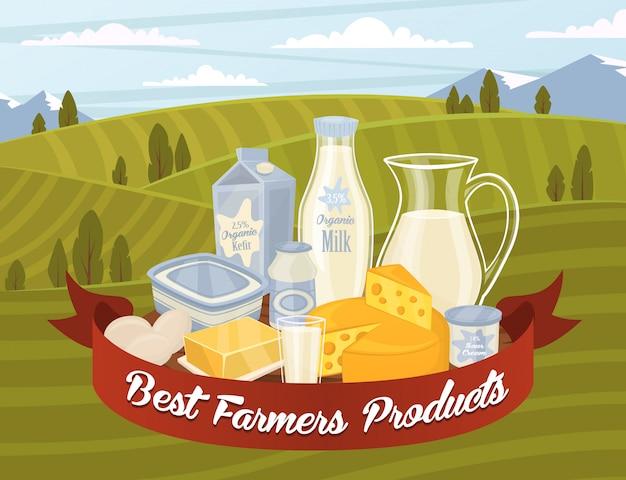 Vettore di prodotti lattiero-caseari