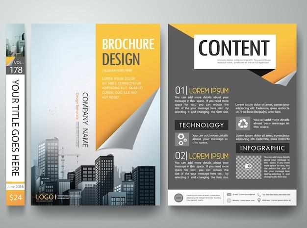 Vettore di progettazione brochure
