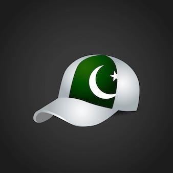 Vettore di progettazione del cappuccio della bandiera del pakistan