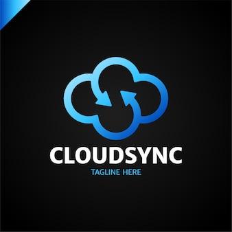 Vettore di progettazione del logotipo di nuvola di infinito