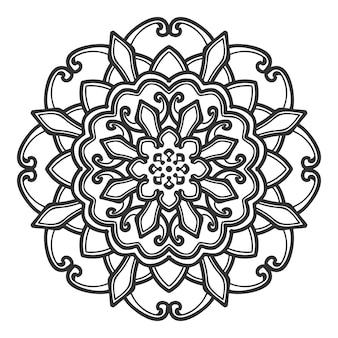 Vettore di progettazione dell'illustrazione del fiore della mandala