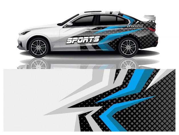 Vettore di progettazione dell'involucro della decalcomania dell'automobile sportiva