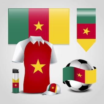 Vettore di progettazione della bandiera del camerun