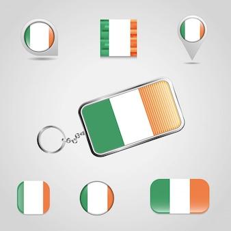Vettore di progettazione della bandiera dell'irlanda