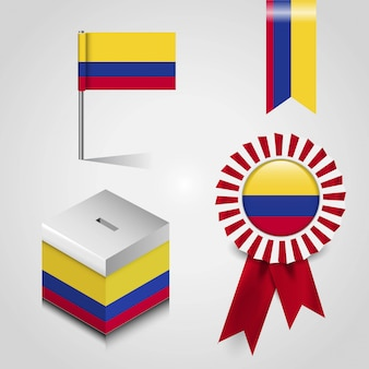 Vettore di progettazione della bandiera della colombia