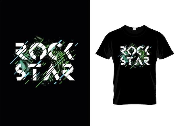 Vettore di progettazione della maglietta di tipografia della stella del rock