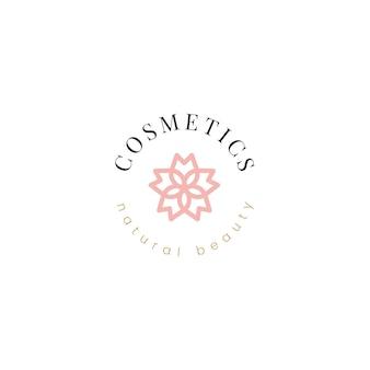 Vettore di progettazione di logo cosmetici naturali